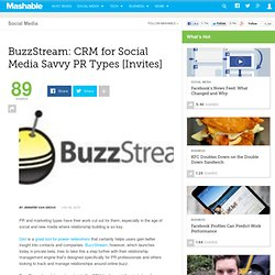 BuzzStream: CRM for Social Media Savvy PR Types [