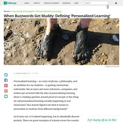 When Buzzwords Get Muddy: Defining 'Personalized Learning'
