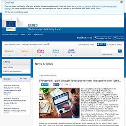 Palabras de moda en los CV: ¡pensemos en el pobre responsable de contratación, que ya las ha visto mil veces! - Artículos de noticias - Comisión Europea