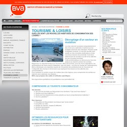 Tourisme & Loisirs - BVA, Marketing and Opinion Insights