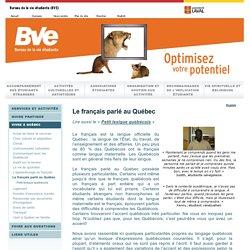 BVE: Le français parlé au Québec
