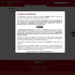 BVMM - Bibliothèque Virtuelle des Manuscrits Médiévaux