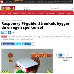 Bygg din egen spelkonsol med Raspberry Pi 3