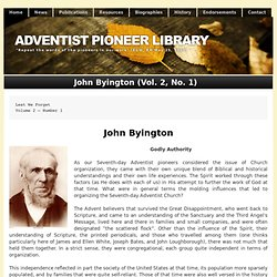 John Byington (Vol. 2, No. 1)