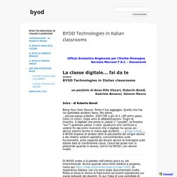 Roberto Bondi, BYOD Technologies in Italian classrooms