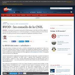 BYOD : les conseils de la CNIL
