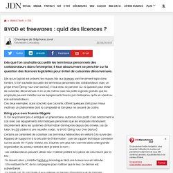 BYOD et freewares : quid des licences?
