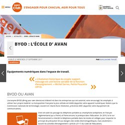 BYOD : l'École d' AVAN - Fédération Sgen-CFDT
