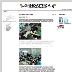 BYOD lesson in BYOD class