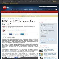 BYOD : et le PC de bureau dans tout ça ?