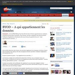 BYOD – A qui appartiennent les données