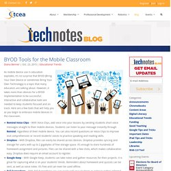 BYOD Tools for the Mobile Classroom