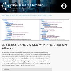 Bypassing SAML 2.0 SSO with XML Signature Attacks