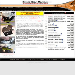 Byrnes Model Machines - Table Saw