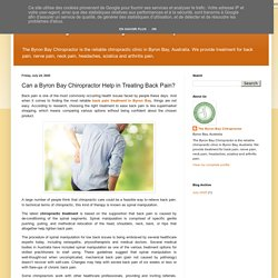 Can a Byron Bay Chiropractor Help in Treating Back Pain?