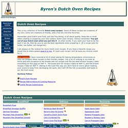 Byron's Dutch Oven Recipes