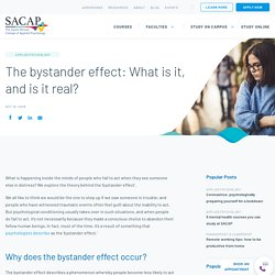Article #1 - Why does the Bystander Effect occur?