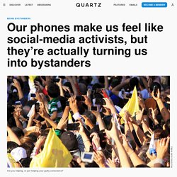The bystander effect is being made worse by people filming violent events on their smartphones