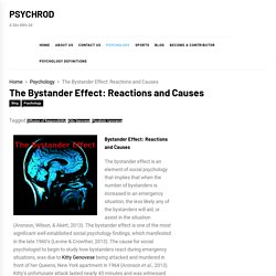 Article #2 - The Bystander Effect: Reactions and Causes - PSYCHROD