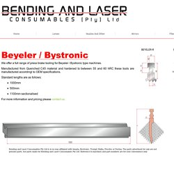 Bystronic Press Brake Tooling
