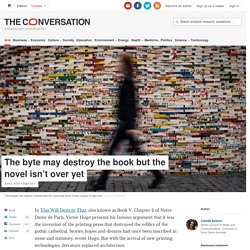 The byte may destroy the book but the novel isn't over yet