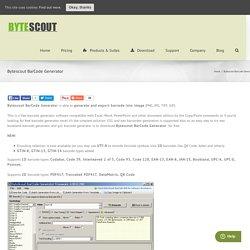 Bytescout BarCode Generator - ByteScout