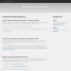 Byword Support