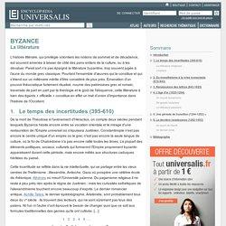 BYZANCE - La littérature