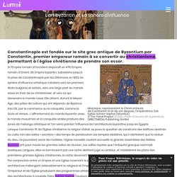 L'art byzantin et sa sphère d'influence - Spécialités