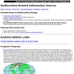C-14 Information and Labs
