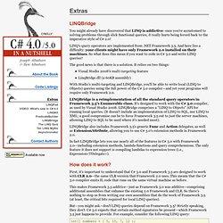 C# 4.0 in a Nutshell - LINQBridge