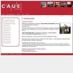 C.A.U.E. de Côte d'Or - Archives 2010