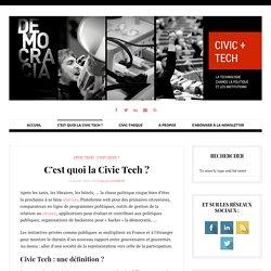 C'est quoi la Civic Tech ? - Civic Tech
