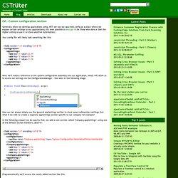 C# : Custom configuration section