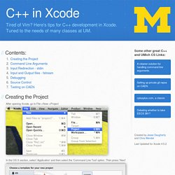 C++ Development in Xcode