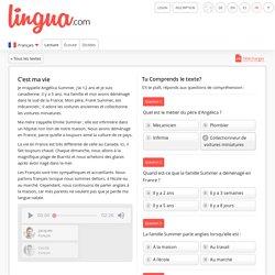 C'est ma vie - Texte français