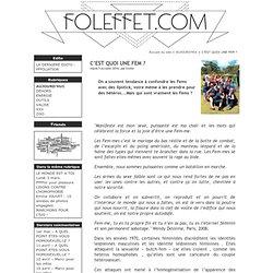 C'EST QUOI UNE FEM ? - Foleffet.com