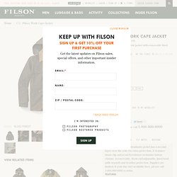 C.C. Filson Work Cape Jacket