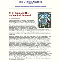 C. G. Jung and the Alchemical Renewal