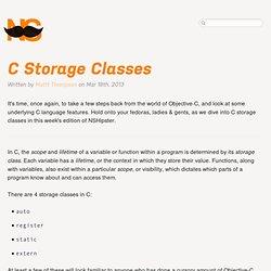 C Storage Classes