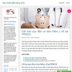 Cắt bao quy đầu có bảo hiểm y tế tại TPHCM