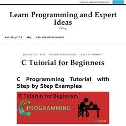 C Tutorial for Beginners
