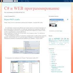 C# и WEB программирование: Первая WCF служба