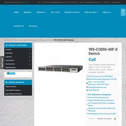 WS-C3850-48F-S buy used new Cisco WS-3850-48F-S switch Toronto Canada
