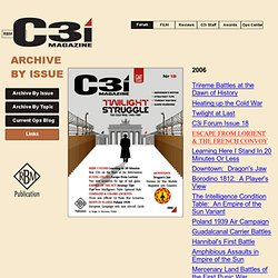 C3i Archive By Issue