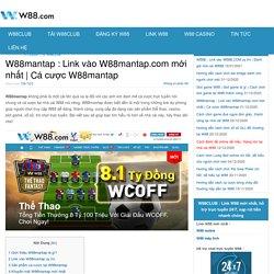 Cá cược W88mantap