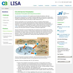 CA LISA Service Virtualization