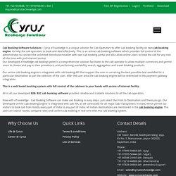 Latest Cab Booking API free - Cyrus Technoedge solutions