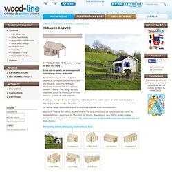 Cabane de jardin bois - abri design - pavillon en bois : Wood-Line : constructions bois