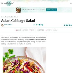 Asian Cabbage Salad with Peanut Dressing – WellPlated.com